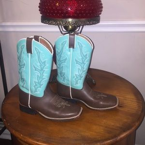 Justin Bent Rail Western Boots Youth 2.5D